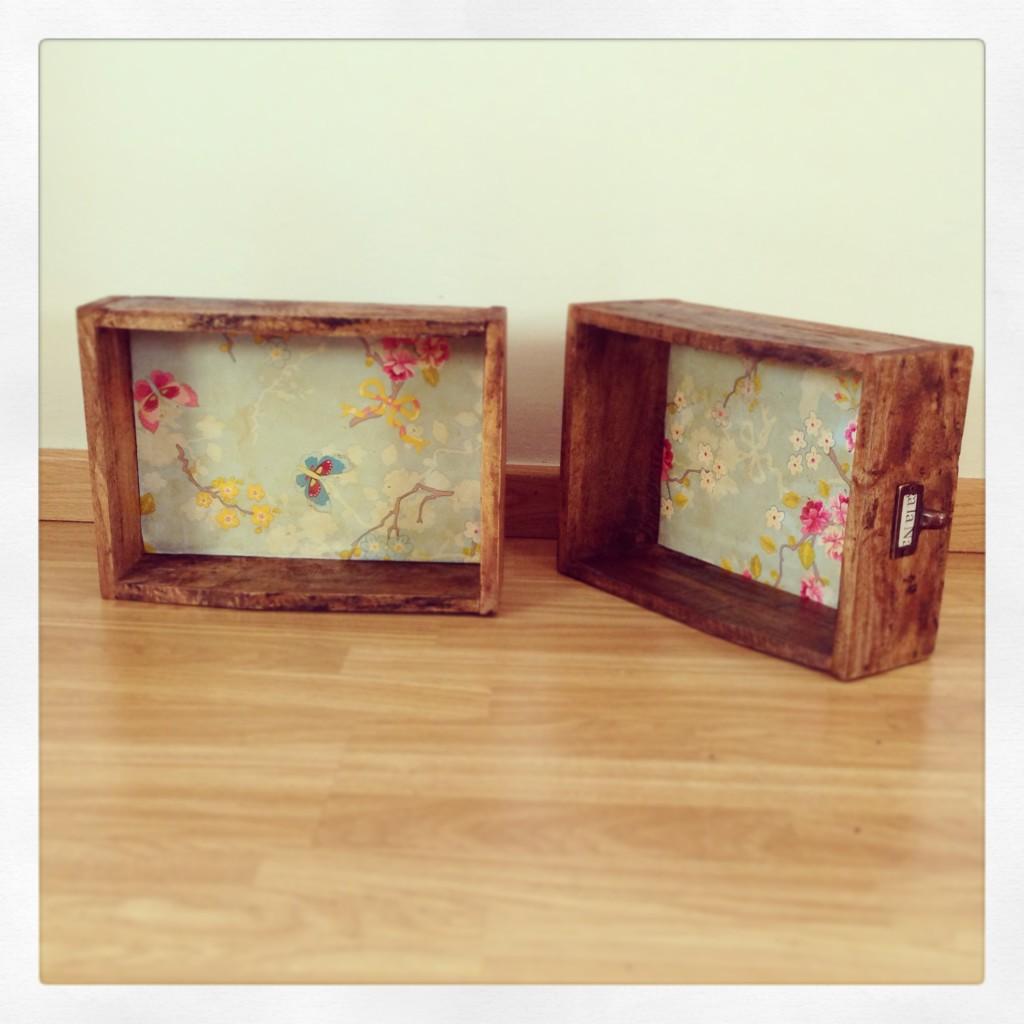 Cajas de madera rojosill n - Caja de frutas de madera ...