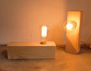 lampara madera vintage