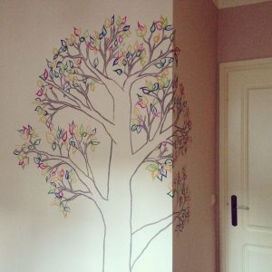 RojoSillon_Mural Infantil Pared_Buho y arbol_14