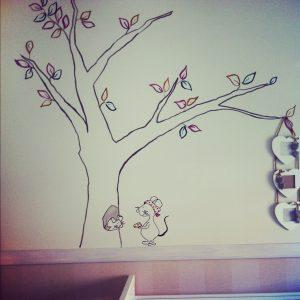 RojoSillon_Mural Pared infantil_11