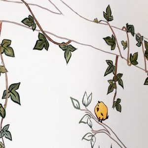 Rojosillon_Mural infantil_Leo arbol_pajaros2