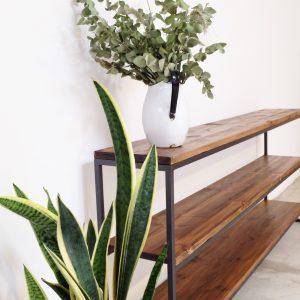 estanteria madera hierro rojosillon