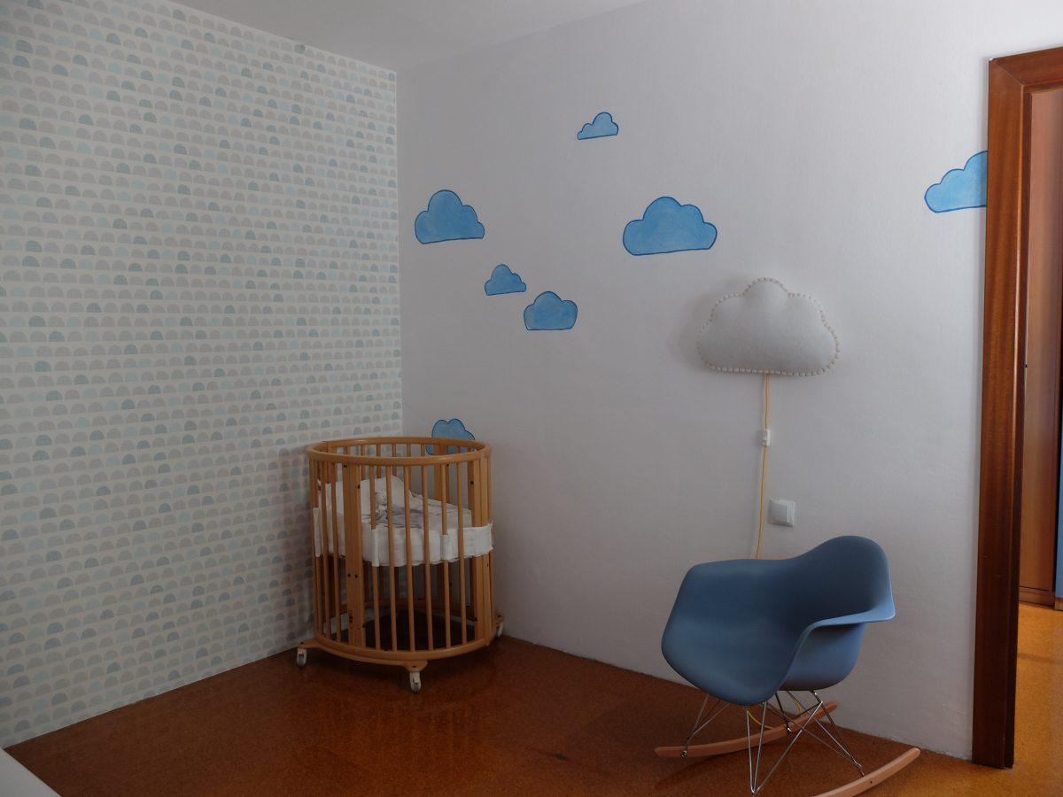 Mural infantil_ Nubes para Marc