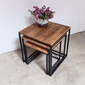 rojosillon_mesa set tres_ hierro y madera 04