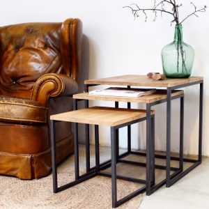rojosillon_mesa set tres_ hierro y madera 08