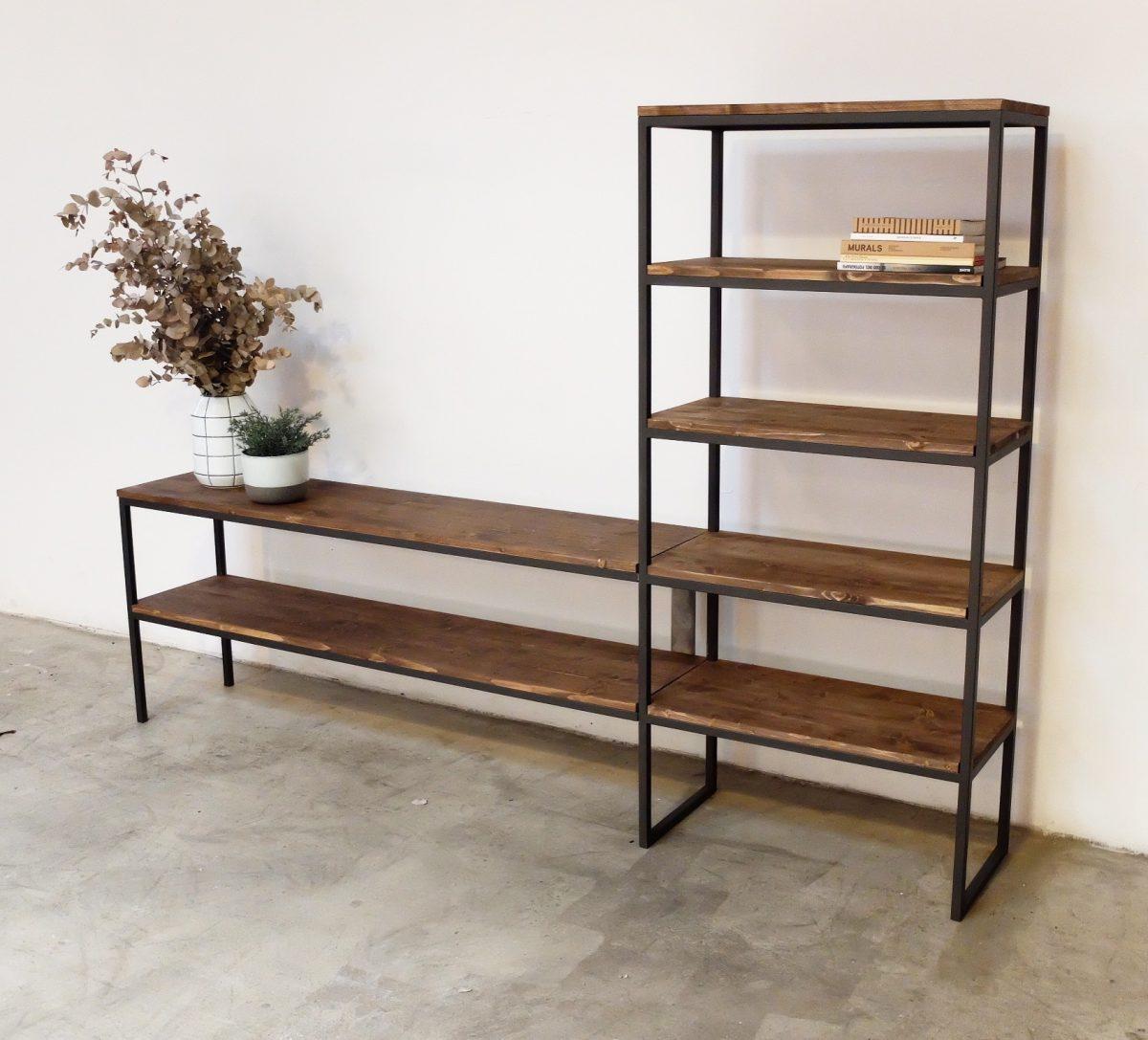 Muebles de hierro y madera muebles pas de amrica madera for Mueble hierro y madera