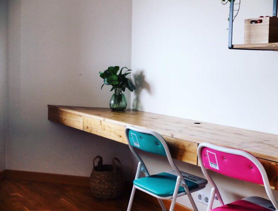despacho mesa estanterias a medida hierro y madera rojosillon 07