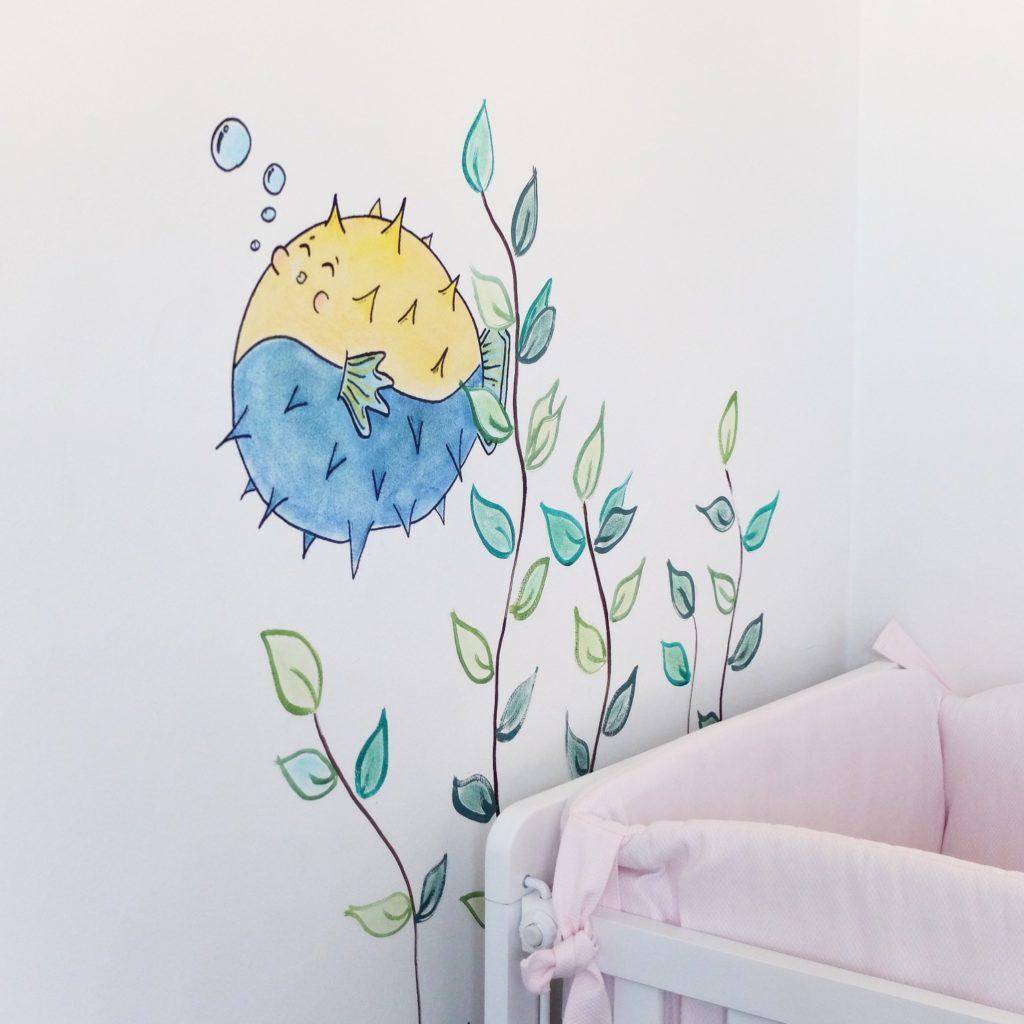 Mural infantil en el fondo del mar_ a medida _ rojosillon
